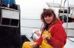 Sarah pescando